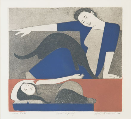 Will Barnet - Woman in Blue Robe