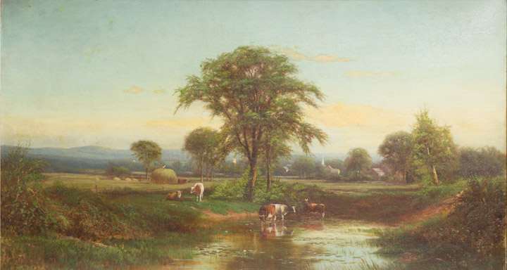 J.A. Hekking - Cows in a Luminist Landscape
