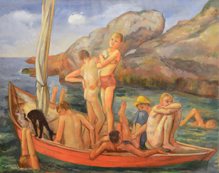 Bernard Karfiol - Boys on a Sailboat